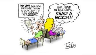 Like a book #cartoon