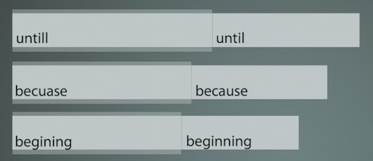 Misspelled English words