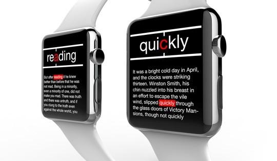 Spritz on Apple Watch concept