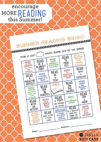 encourage your kids to read with this summer reading bingo card