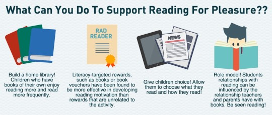 What can you do to support reading for pleasure