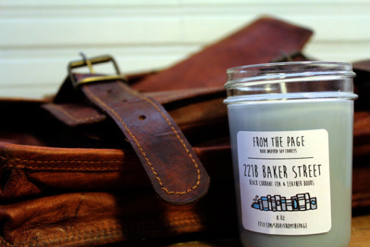 Best bookish gifts: 221B Baker Street Soy Candle