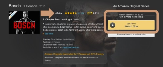 Amazon Prime - finding out eligible movies and TV series