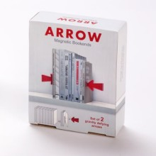 Arrow magnetic bookends - packaging