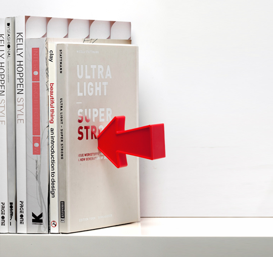 Arrow magnetic bookends - right side