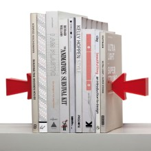 Arrow magnetic bookends - two sides