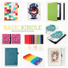 18 solid and unique case covers for the basic Kindle