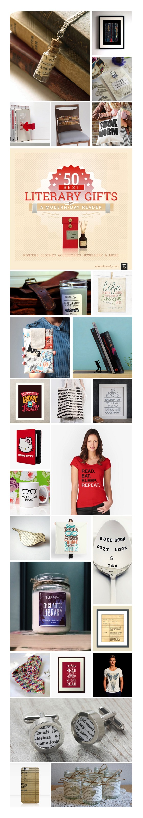Best literary gifts for a modern-day book lover #infographic