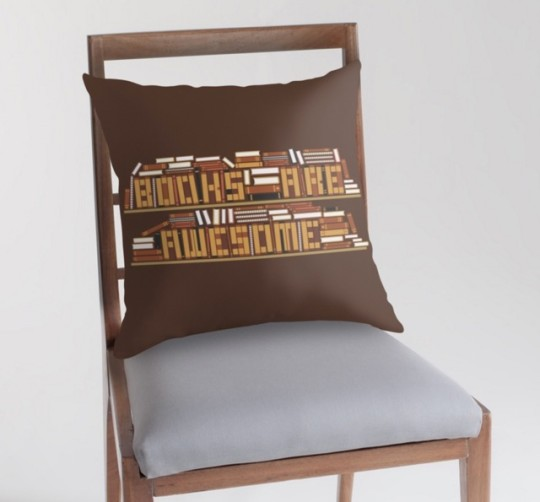 Gifts for a modern-day book lover: Book Are Awesome Throw Pillow