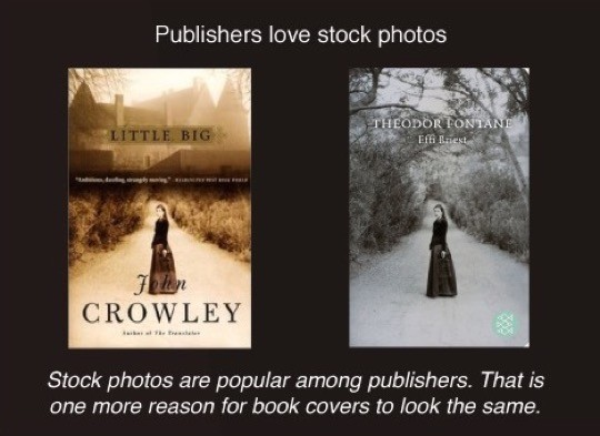 Book cover cliches - stock photos
