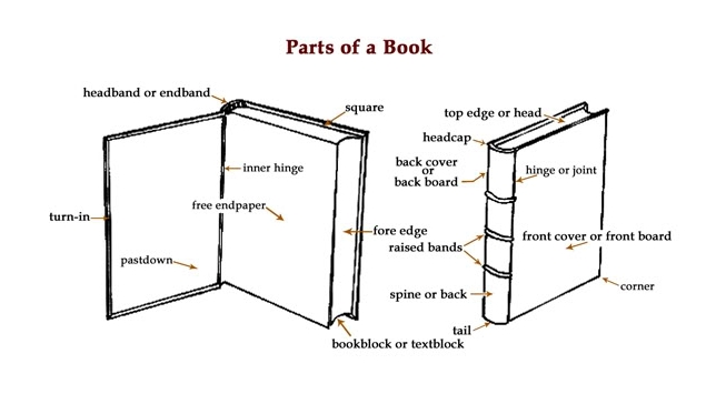 Book diagrams - parts of a book