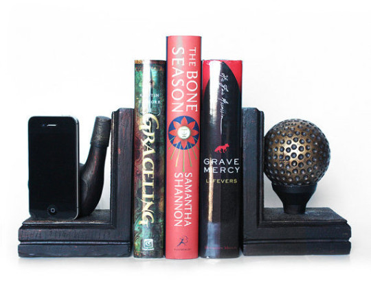 Bookends and iPhone charger