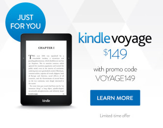 Exclusive deal for Kindle Voyage - July 2015