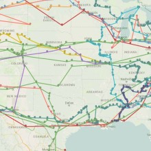 Google Map with most epic American's literature road trips