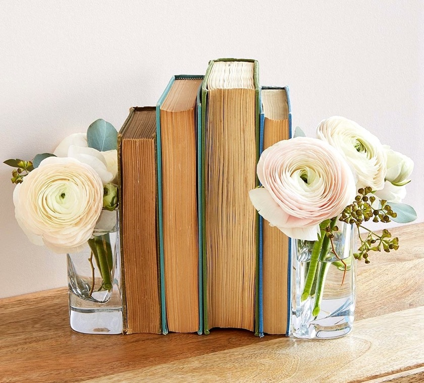 Handmade vase bookends