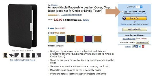 How to find Prime eligibility for physical products on Amazon
