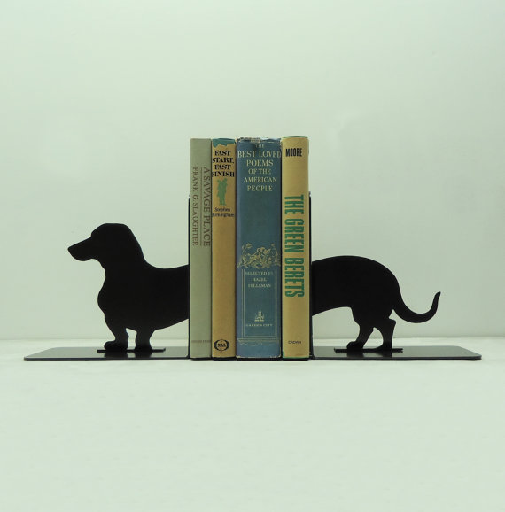 Knob Creek Metal Arts bookend - Dachshund Wiener Dog