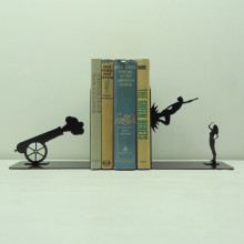 Knob Creek Metal Arts bookend - Shot Out Of A Cannon