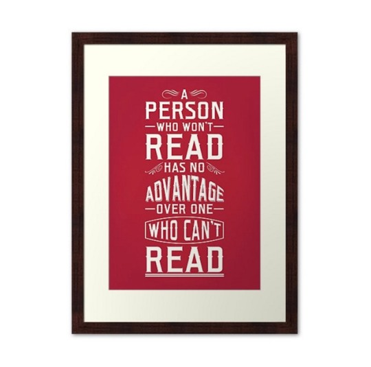 Gifts for book nerds: Mark Twain Quote Poster