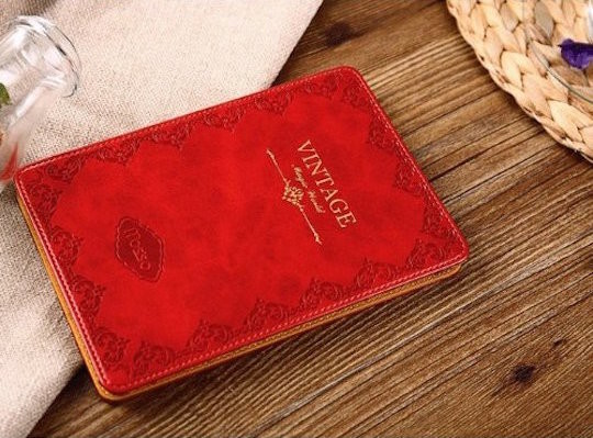 Mosiso Slim Fit Retro Kindle Case Red - gifts for book lovers