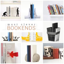 A list of creative bookends to display your most precious books