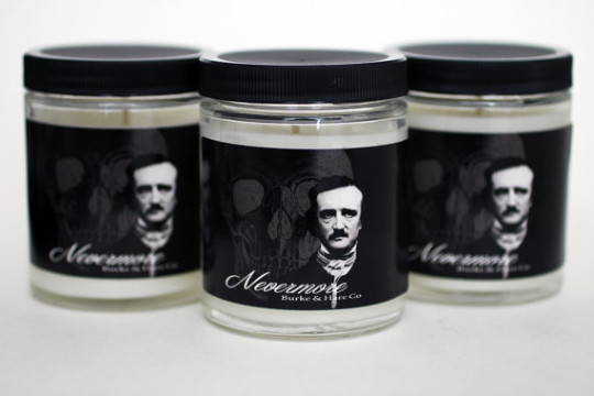 """Nevermore"" Edgar Allan Poe Scented Candle"