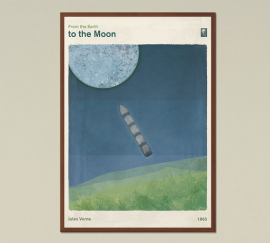 Red Hill book posters - From the Eartth to the Moon