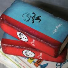 Repurposed brick bookend - Dr. Seuss