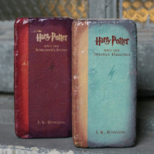 Repurposed brick bookend - Harry Potter