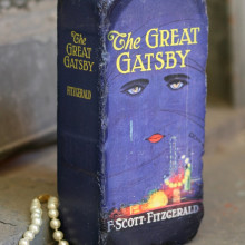 Repurposed brick bookend - The Great Gatsby