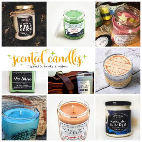 Scented candles inspired by books and writers