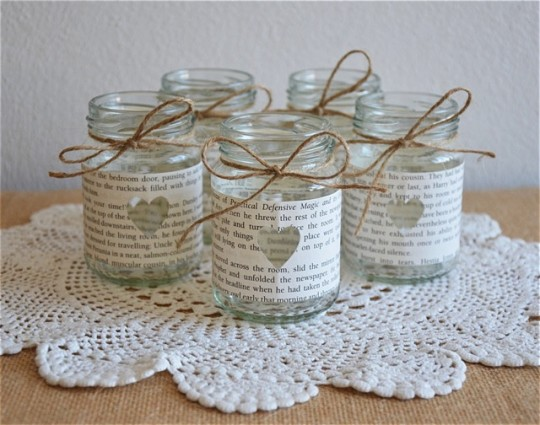 Great book gifts - Small Glass Jars