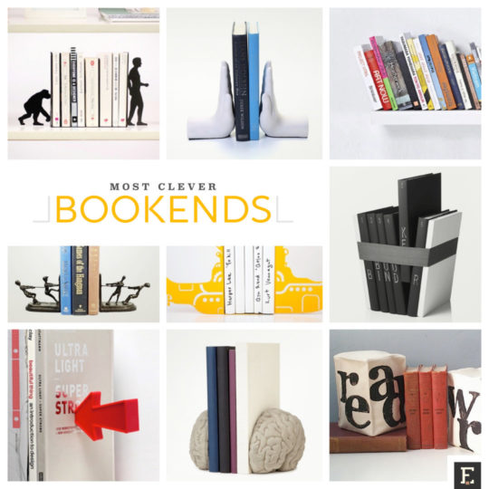 20 Clever Bookends To Hold Your Most Precious Books
