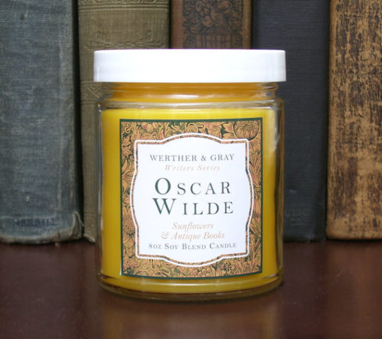 Writer-inspired scented candles - Oscar Wilde