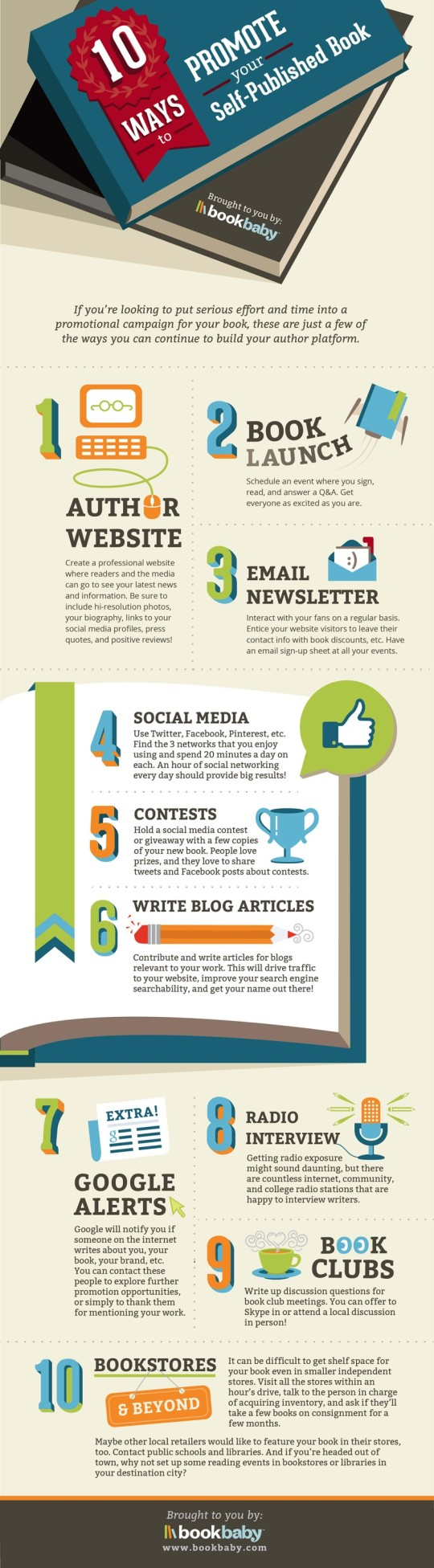 10 ways to promote a self-published book #infographic