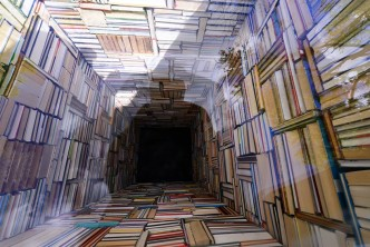 A library that plummets into the ground - picture 3