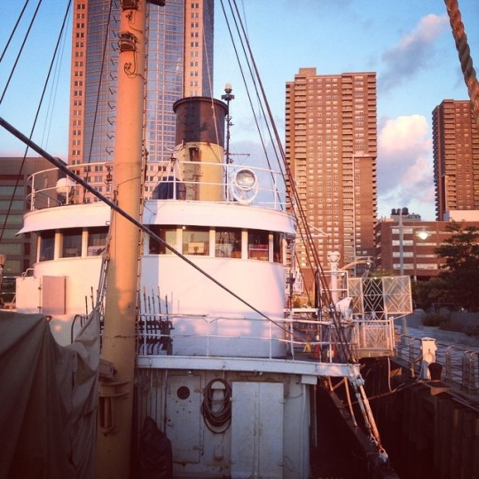 Floating Library opened aboard the Lilac Museum Steamship in September 2014