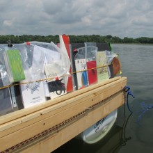 Hand-crafted books offered by The Floating Library