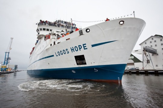 Logos Hope on a first cruise in 2009