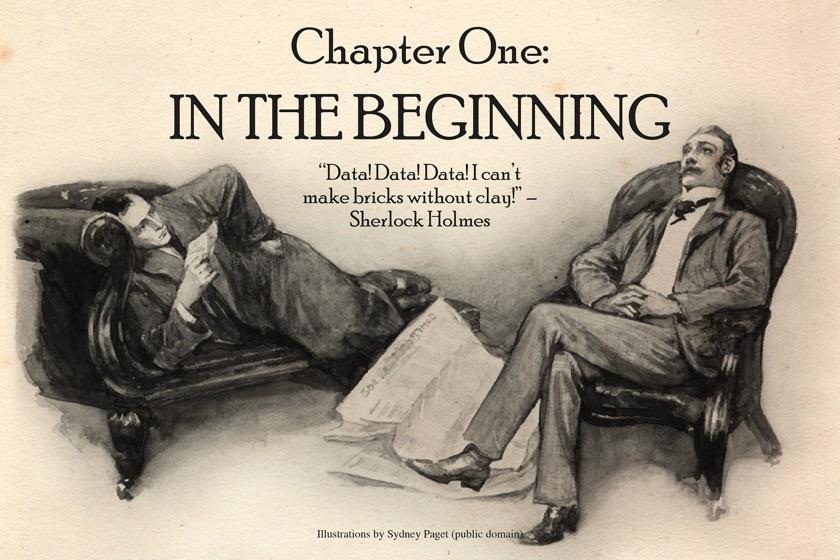 Sherlock Holmes chart 1 - In the Beginning
