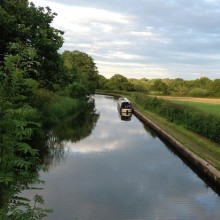 The Book Barge on the Grand Union Canal near Knowle