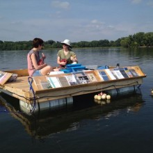 The Floating Library on Lake Winona