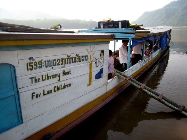 The library boat for Lao Children