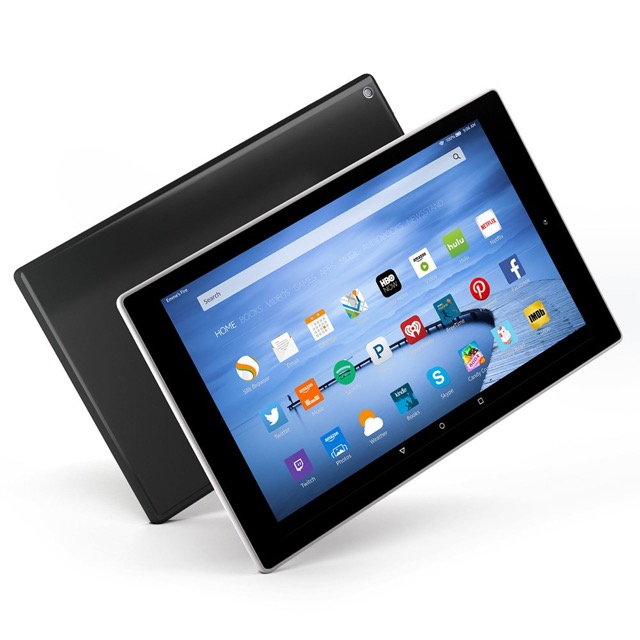 Amazon Fire HD 10 - front and back