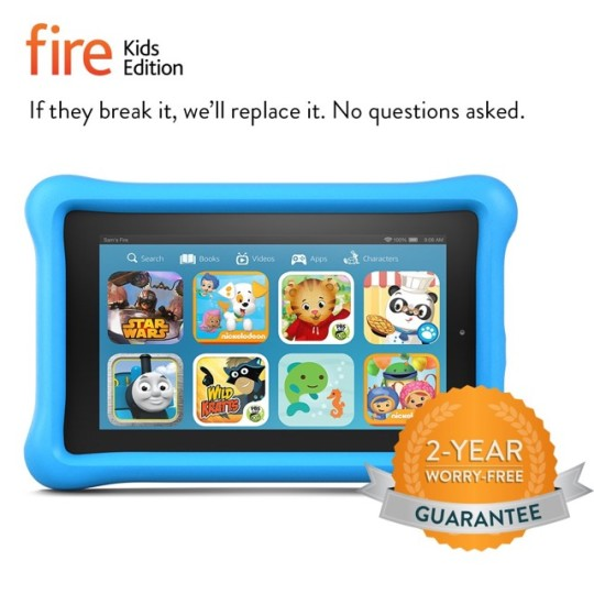 Amazon Fire Kids Edition comes with a 2-year worry-free guarantee
