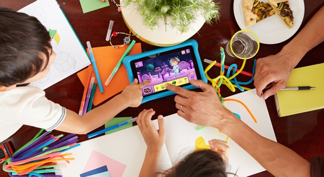 Amazon Fire Kids Edition - family spending time together