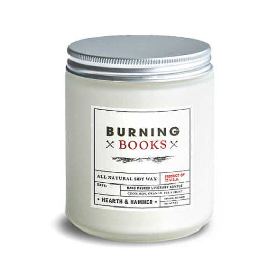 Burning Books Candle - 9 Candles Every Book-Loving Pyro Needs