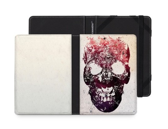 "Caseable ""Floral Skull"" Cover for Kobo Glo"