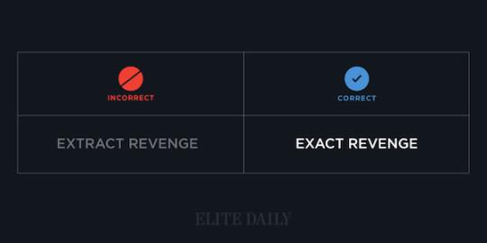 Common English phrases - Exact revenge