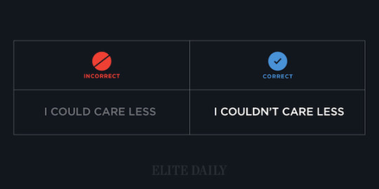 Common English phrases - I couldn't care less